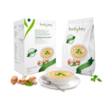 Mahlzeitersatz-Suppe Champignon mit Petersilie bodykey by NUTRILITE™